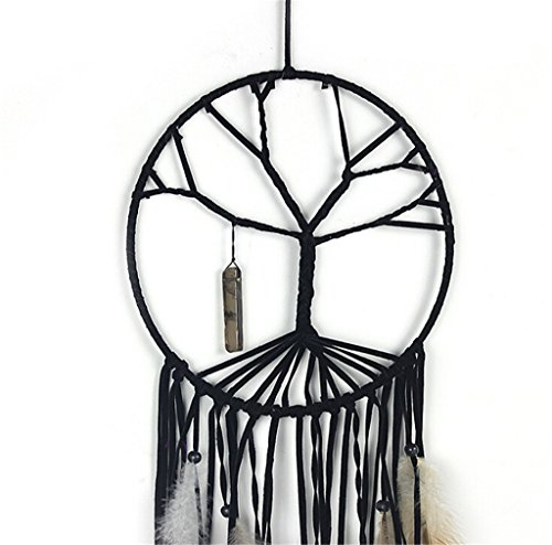 Gaosaili Handmade Beaded Feather The Tree of Life Dream Catcher
