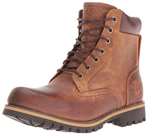 Timberland Rugged WP_Rugged WP_Rugged 6 in Plain Toe WP, Herren Kurzschaft Stiefel, Braun (Copper Roughcut WP), 43 EU