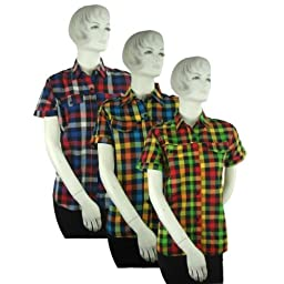 Bulk Buys Plaid Tops Junior Clothing - Case of 12