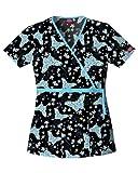 Dickies Gen Flex Print Mock Wrap Top-Tiffany Butterfly , Large