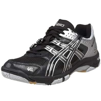 ASICS Men's GEL-Rocket 5 Volleyball Shoe,Black/Silver,7.5 M US