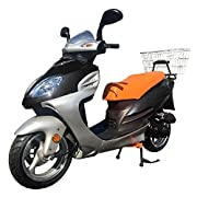 CRT DF50STA 50cc Moped Scooter Bicycle with Rear Carrier BLACK