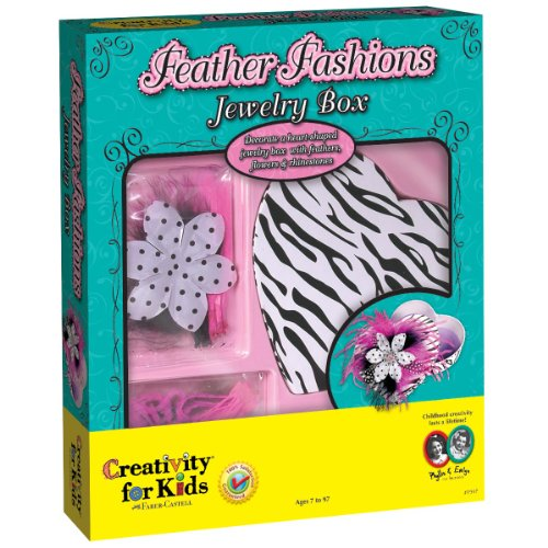 Creativity For Kids Feather Fashions Jewelry Box front-590252