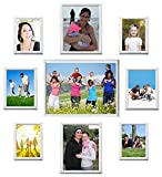UberLyfe Elegant Groove White Photo Frame Collage Collection - Set of 9 (PF-CLG-WTGVE9P)