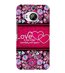 Love Quote 3D Hard Polycarbonate Designer Back Case Cover for HTC One M9+ :: HTC One M9 Plus