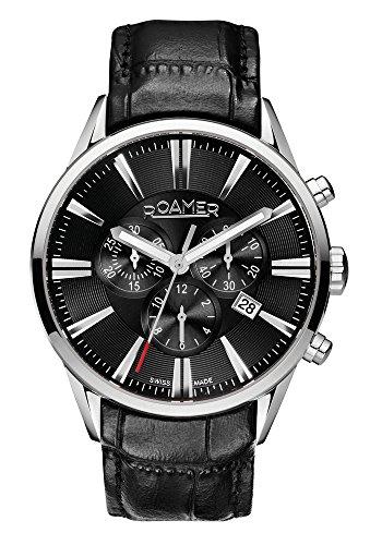 Roamer - 508837 41 55 05 - Montre Homme - Quartz - Chronographe - Bracelet Cuir Noir