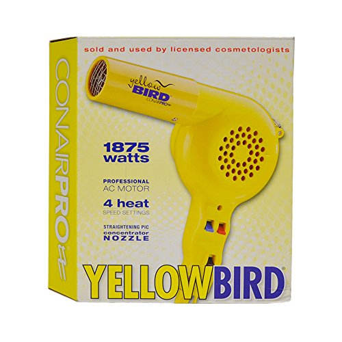 conair-pro-yellow-bird-hair-dryer-model-yb075w