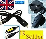 Samsung usb cable and wall charger for samsung cameras including AQ100, ES55, ES57, ES63, ES65, ES70, HZ10W, HZ15Z, HZ25WB, HZ30W, HZ35W, i8, i80, L100, L110, L120, L200, L201, L210, L310 W, L310W, L313 W, L313W, M100, M110, M310, M310 W, NV4, NV9, NV30,