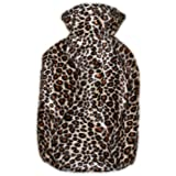 Warm Tradition Cheetah Hot Water Bottle Cover - COVER ONLY- Made in USA