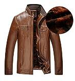 (フンテン)FengTengメンズ 革ジャン ブルゾン 防寒着 冬服メンズパンク ファッション puレザー 裏起毛 裏ボア 大きいサイズ タリージャケット ライダース1FT2