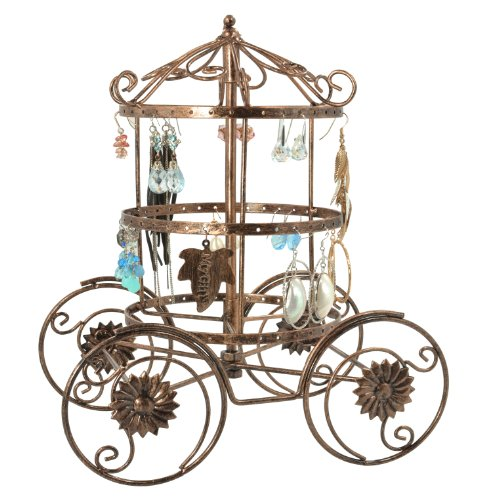 Magical Fairy Tale Cinderella Rotating Carriage Jewelry Storage Earring Organizer Bracelet Holder Necklace Hanger Display Stand