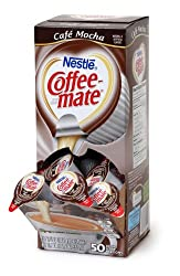 Coffee-mate Coffee Creamer, Cafe Mocha Liquid Singles, 0.375-Ounce Creamers (Pack of 200)