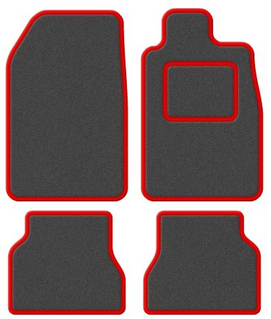 SUZUKI ALTO 2010 ONWARDS TAILORED CAR FLOOR MATS BLACK CARPET WITH GREY TRIM