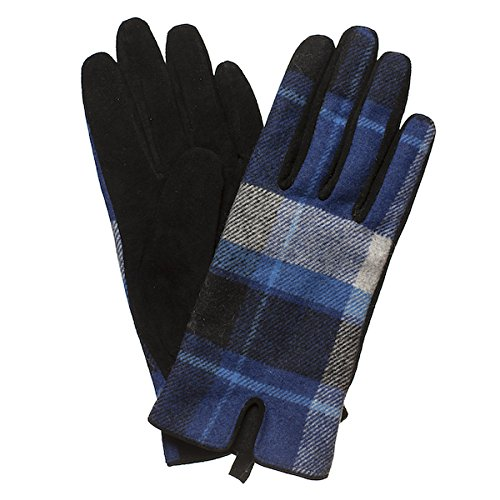 Damen Frauen Paisley Schottischmuster Karierte Wildleder Schicke Winter Handschuhe