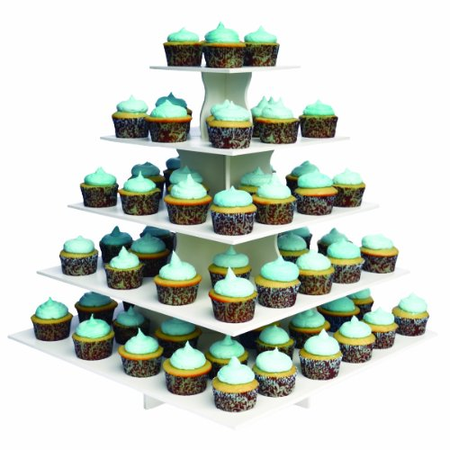 Cupcake stands for weddings large square and tiered for Cupcake stand plans