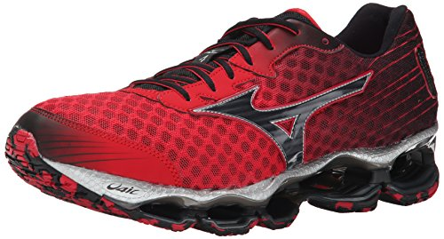 Mizuno Men's Wave Prophecy 4 Running Shoe,Shin Red/Black,9 D US (Mizuno Running Shoes Prophecy compare prices)