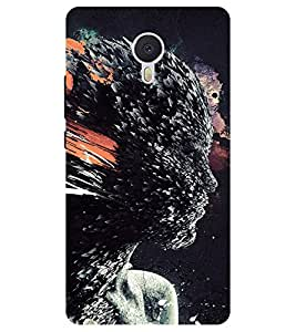 Chiraiyaa Designer Printed Premium Back Cover Case for Meizu M3 Note (women face illustration) (Multicolor)
