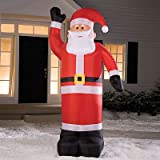 8' Airblown Inflatable Santa Claus Lighted Christmas Yard Art Decoration
