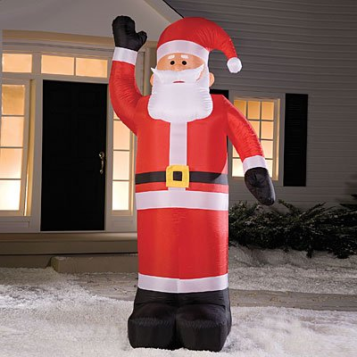 8' Airblown Inflatable Santa Claus Lighted Christmas