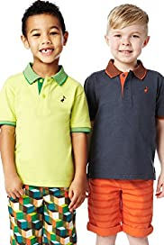 2 Pack Pure Cotton Assorted Polo Shirts