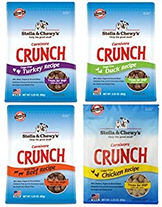 Stella & Chewy's Carnivore Crunch Variety Pack (Beef, Duck, Chicken, Turkey)