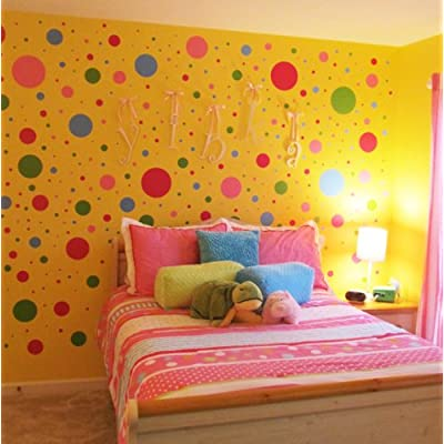 Popular Wall Dots Decals Fun Colors Peel u Stick Polka Dot Wall Appliques u