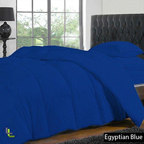 """(titolo filato 400), 100% cotone egiziano, finitura elegante Set copripiumino e lenzuolo con angoli, 4 con tasca, dimensioni: 58,42 (23"""") cm), Cotone, Royal Blue Solid, EU_Super_King"""