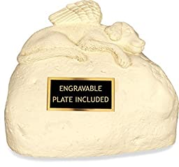 Angelstar 49561 Pet Urn for Dog with Engraved Name Plate, 6-Inch by AngelStar