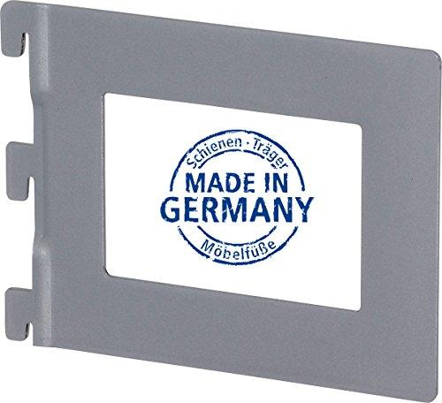 IB-Style - Regalsystem EASY Bücherbügel | pro Stück | 143 x 118 mm | silbermatt | Made in Germany | TÜV geprüft | GS Zeichen |Wandleiste Wandschiene Träger Halterung Regal