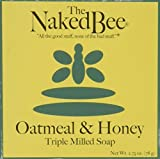 The Naked Bee Moisturizing Orange Blossom Honey Oatmeal and Honey Triple Milled Soap 2.75 oz