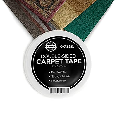 The Good Stuff Strongest Double Sided Carpet, Mat, Rug Tape, 2 Inches x 75 Feet Heavy Duty by The Good Stuff Essentials