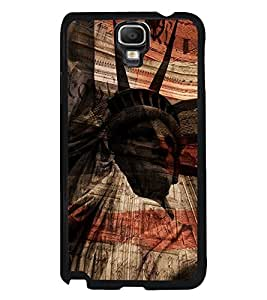 Fuson Premium Statue Of Liberty Metal Printed with Hard Plastic Back Case Cover for Samsung Galaxy Note 3 Neo N7505