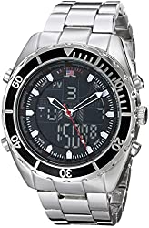 U.S. Polo Assn. Sport Men's US8211 Sterling Silver Watch with Analog/Digital Display
