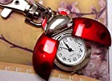 Red Ladybug Watch with Keychain Clip - Pocket Watch Clock