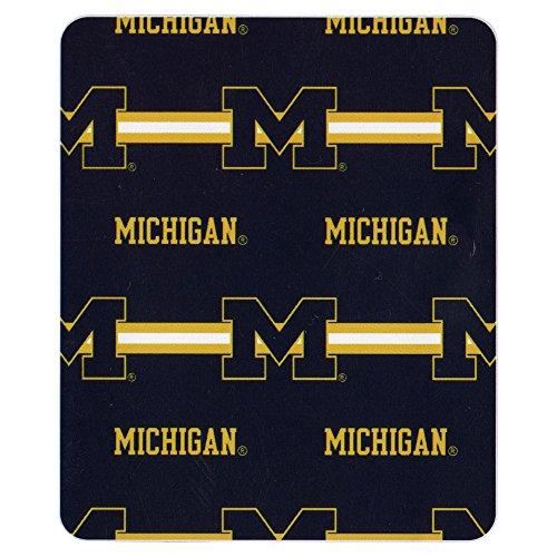 "College ""Line"" Logo Fleece Throw Blankets (Michigan Wolverines) front-776255"