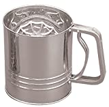 Fox Run Four Cup Stainless Steel Flour Sifter
