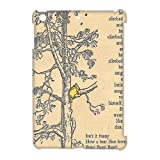 Vintage Climbed Winnie the Pooh Inspired Hard Plastic Protector Bumper Snap on Case for iPad Mini