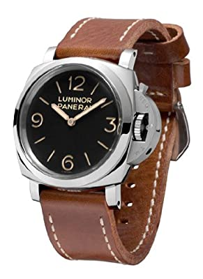 Panerai Men's PAM00372 Luminor Analog Display Mechanical Hand Wind Brown Watch