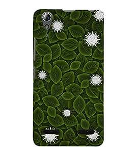 Flowers and Leaves 3D Hard Polycarbonate Designer Back Case Cover for Lenovo A6000 :: Lenovo A6000 Plus :: Lenovo A6000+