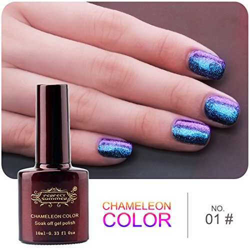 Perfect Summer New Hot 3D Holographic Gel Nail Polish Glitter Starry ...