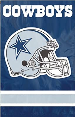 Dallas Cowboys NFL Applique 2-Sided House Banner Flag