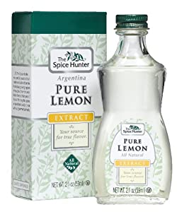 The Spice Hunter Pure Lemon Extract,  2-Ounce Jar (Pack of 6)