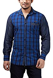 Rapphael Men's Full sleeve Casual Shirt (Cotton, X-Large)