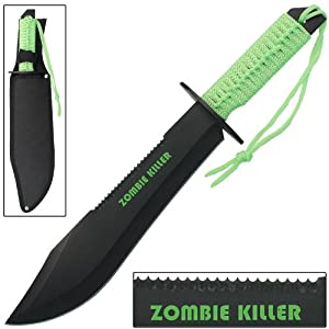 Zombie Killer Sawback Bowie Full Tang Survival Knife from Armory Replicas