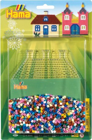 Hama Beads -2000 piece House and Castle Maker