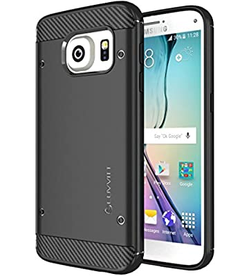 Galaxy S7 Case, LUVVITT [Sleek Armor] Slim Shock Absorbing Flexible Back Cover TPU Rubber Case for Samsung Galaxy S7 - Black from Luvvitt