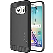 Galaxy S7 Case, LUVVITT [Sleek Armor] Slim Shock Absorbing Flexible Back Cover TPU Rubber Case for Samsung Galaxy S7 – Black