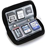 22 slots case pouch holder wallet for SD SDHC MMC CF Micro SD Memory Card (Black)