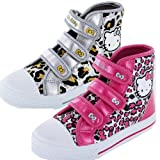 HELLO KITTY PEONY NEW GIRLS HIGH TOP CANVAS BOOTS 2 colours