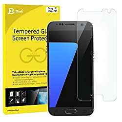 Galaxy S7 Screen Protector, Updated Version, Full Screen and Perfect Fit, JETech 3-Pack Screen Protector Film for Samsung Galaxy S7